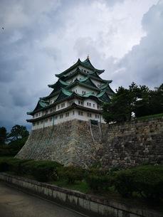 金の鯱がある名古屋城の写真素材 [FYI03160792]
