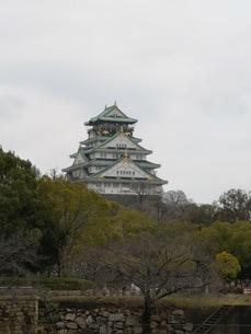 雄大に聳え立つ大阪城の写真素材 [FYI03160820]