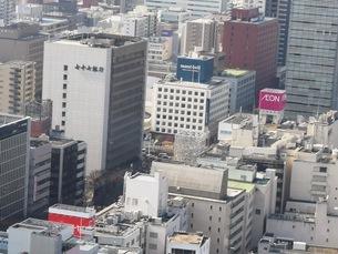 高層ビルから見た仙台の街並みの写真素材 [FYI03160827]