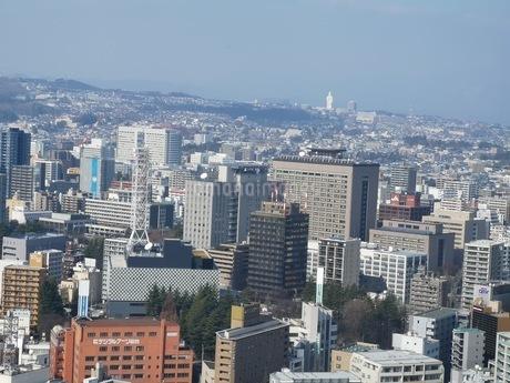 高層ビルから見た仙台の街並みの写真素材 [FYI03160828]
