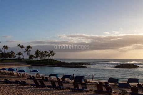 ハワイの夕焼けの写真素材 [FYI03160874]