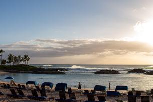 ハワイの夕焼けの写真素材 [FYI03160880]
