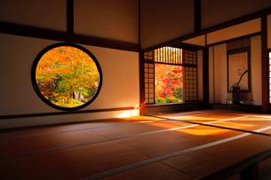 11月 鷹ヶ峯の源光庵 -京都の紅葉-の写真素材 [FYI03161116]