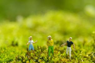 ミニチュアグリーンワールド「お散歩」の写真素材 [FYI03162262]