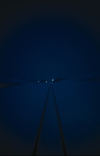 車窓からの早朝の雪景色 新潟県の写真素材 [FYI03162384]
