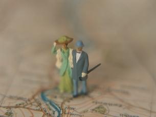 老夫婦の人形の写真素材 [FYI03162645]