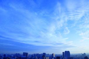東京のビル群と空の写真素材 [FYI03163692]