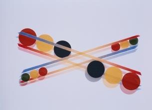 直線と円形(カラフル)のイラスト素材 [FYI03163747]
