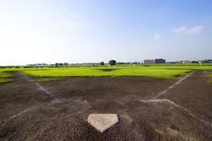 野球場のホームベースの写真素材 [FYI03164265]