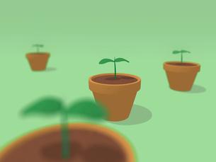 鉢植えに新芽のイラスト素材 [FYI03165361]