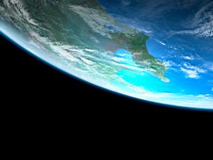 衛星軌道から眺める関東広域のイラスト素材 [FYI03165942]