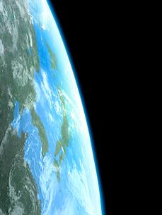 衛星軌道から眺める日本と北東アジア圏のイラスト素材 [FYI03165943]