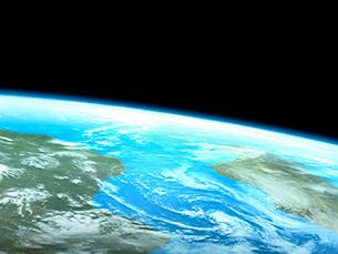 衛星軌道から眺めるアフリカ大陸とマダカスカル島のイラスト素材 [FYI03165951]