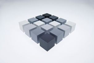 立方体のオブジェの写真素材 [FYI03166824]