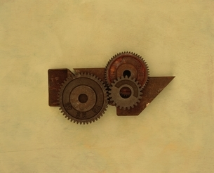 さびた歯車の写真素材 [FYI03167126]