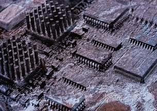 IC基盤の化石の写真素材 [FYI03168212]