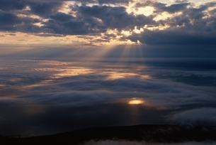 利尻山の雲海 7月 北海道の写真素材 [FYI03168588]