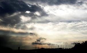 暗闇かかる空の写真素材 [FYI03169227]