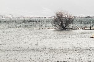 湖と釣り人の写真素材 [FYI03169532]