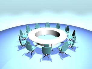 バーチャル会議室(3DCG)の写真素材 [FYI03170010]