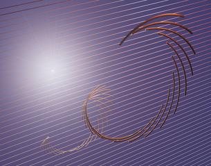 回転する金属の棒イメージCGの写真素材 [FYI03170015]