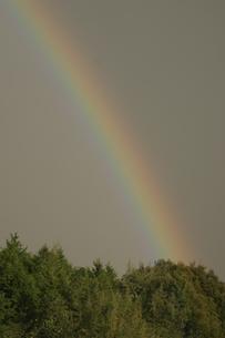 山にかかる虹の写真素材 [FYI03170116]