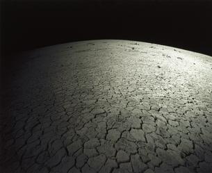 灰色の硬い地面のイメージ 魚眼の写真素材 [FYI03170827]