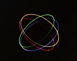 4個のカラフルな輪 CGの写真素材 [FYI03171353]