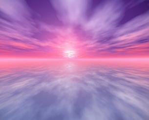 ピンクと紫の雲と空 CGの写真素材 [FYI03171358]