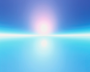 光と地平線       CGの写真素材 [FYI03171381]
