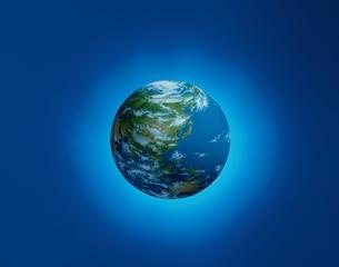 地球イメージ(日本中心)  CGのイラスト素材 [FYI03172165]