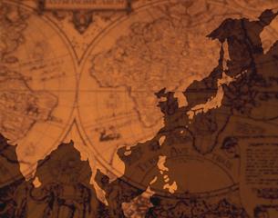 アジア地域の地図 イメージフォトのイラスト素材 [FYI03172240]