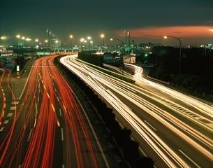 夕暮れの東関東自動車道  千葉県の写真素材 [FYI03172569]