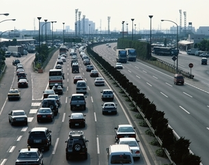 渋滞する東関東自動車道    千葉県の写真素材 [FYI03172571]