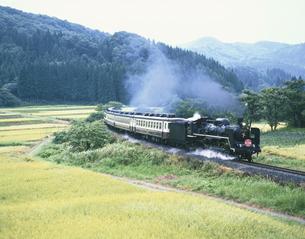 SL「ばんえつ物語号」 西会津町 福島県の写真素材 [FYI03172757]