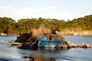 震災から約半年後の奥松島・嵯峨渓の写真素材 [FYI03173474]