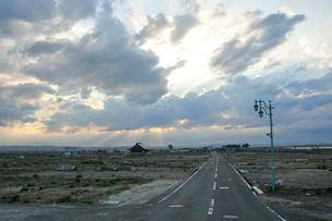 名取市・震災から一年の写真素材 [FYI03173635]