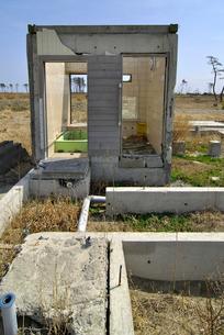 残ったままの風呂場の写真素材 [FYI03173802]