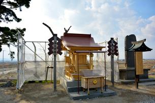 湊神社が遷座した富主姫神社の社殿の写真素材 [FYI03173820]