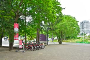 青葉山公園のダテバイク置場の写真素材 [FYI03174669]
