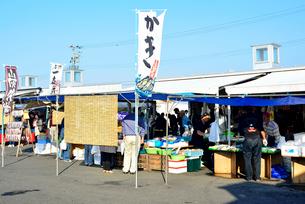 ゆりあげ港朝市で売り買いする人々の写真素材 [FYI03175061]