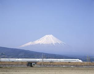 富士山と新幹線「のぞみ」の写真素材 [FYI03175552]