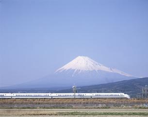 富士山と新幹線の写真素材 [FYI03175556]