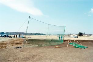 米軍跡地の少年野球場の造成風景の写真素材 [FYI03176416]
