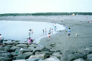 休日の湘南茅ヶ崎海岸の写真素材 [FYI03176735]