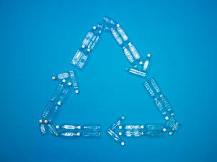 ペットボトルのリサイクルマークの写真素材 [FYI03177474]