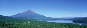 パノラマ台からの富士山  河口湖町 山梨県の写真素材 [FYI03179202]