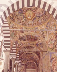 リラの僧院のフレスコ画 ブルガリアの写真素材 [FYI03180091]