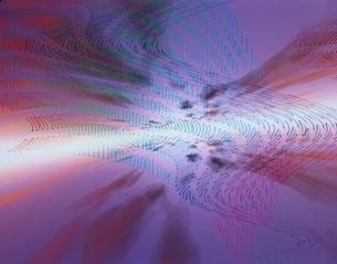 水平線イメージ(データの流れ)   CGの写真素材 [FYI03180387]