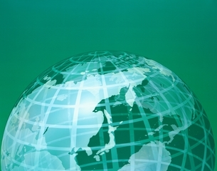 地球イメージ(グリーン)の写真素材 [FYI03180396]